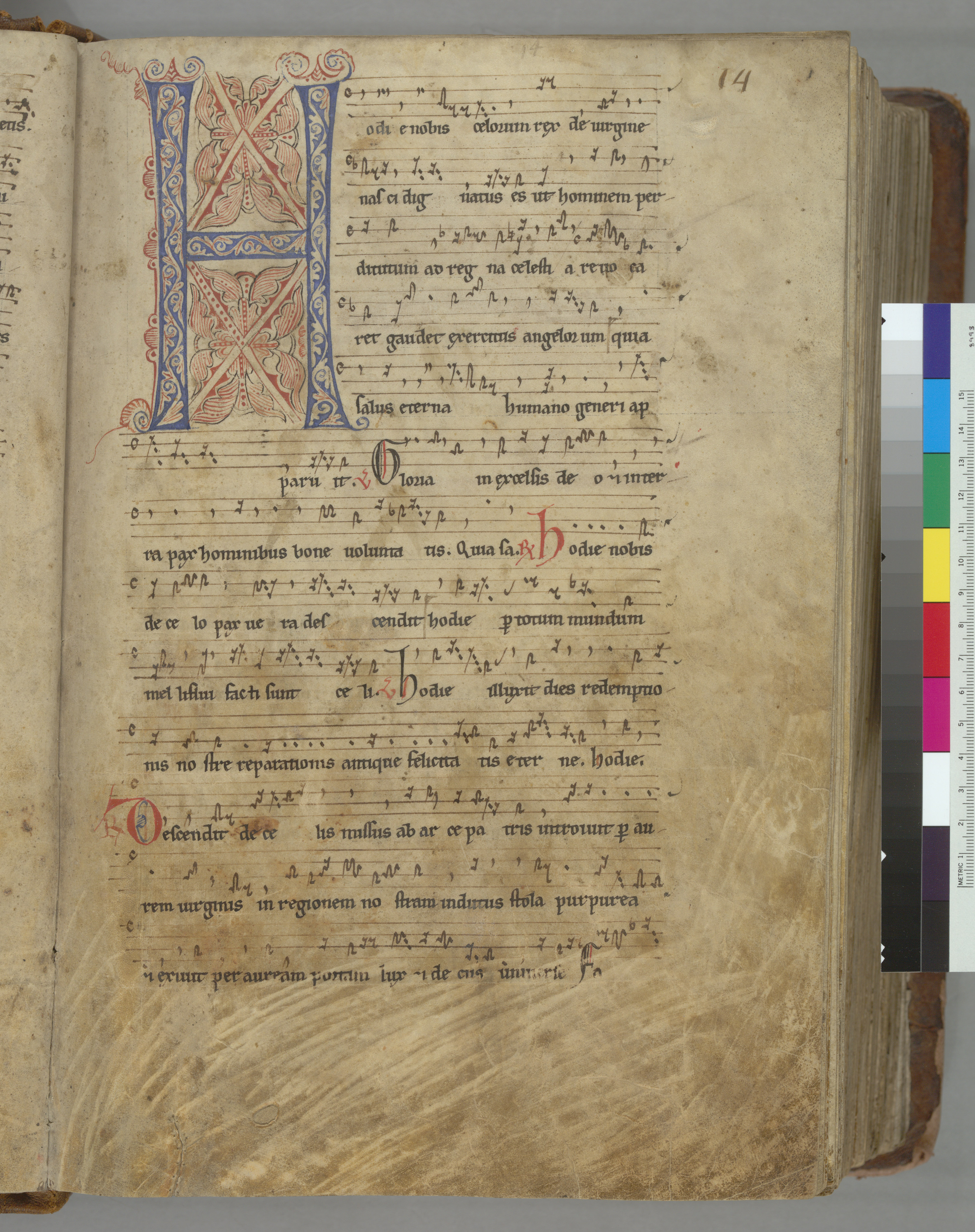 Berkeley, University of California, Music Library, Music Library MS 0753, f. 14r