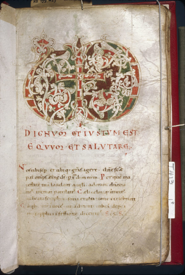 Cambridge, Harvard University, Houghton Library, MS Typ 0413, f. 1
