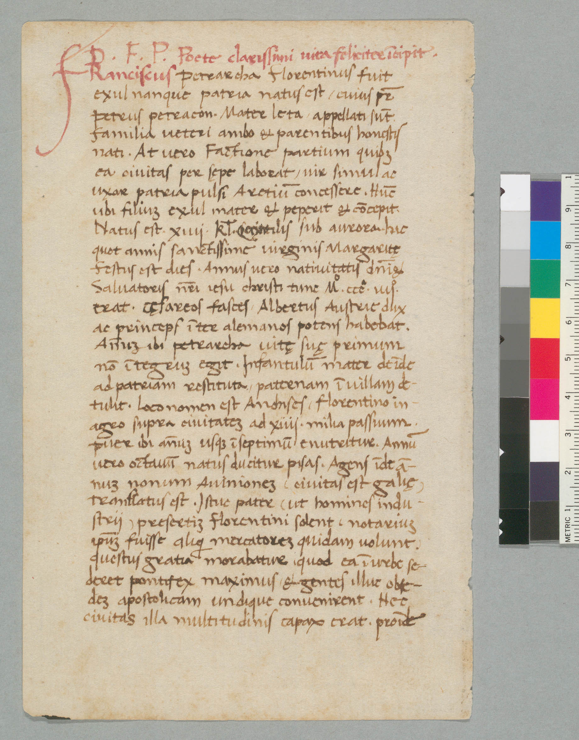 Davis, University of California, Shields Library, Special Collections, UCD D-041:23, f. 1v