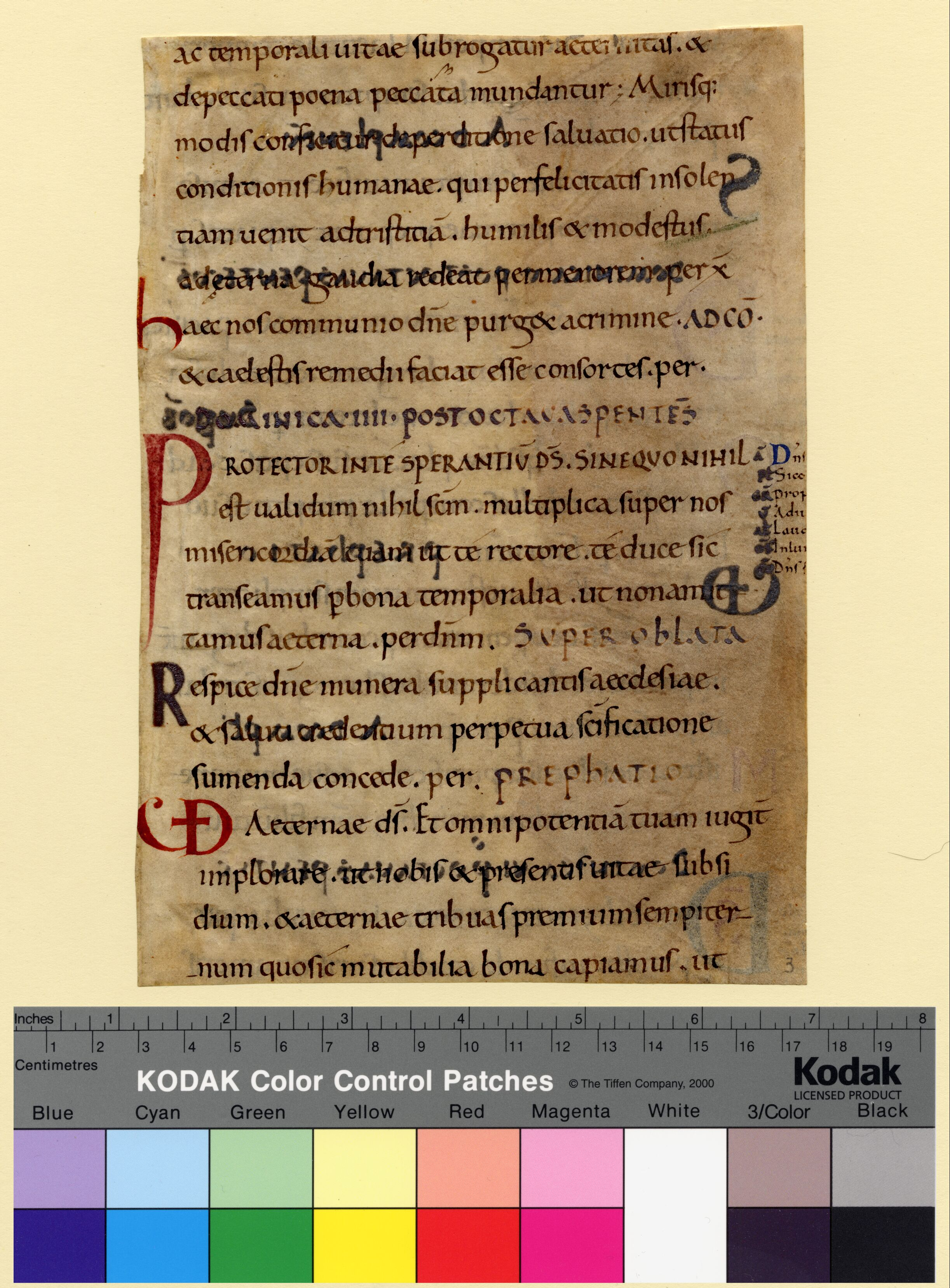 Columbia, University of Missouri, Ellis Library, Special Collections, Fragmenta Manuscripta 003, recto